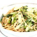 Smagen af sommer - Spaghetti med asparges og ærter