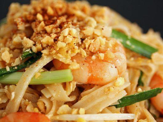 Autentisk pad thai | Stegte nudler med rejer