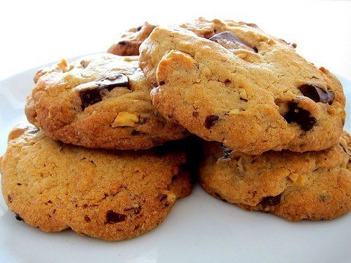 Småkager | Cookies med chokolade og nødder