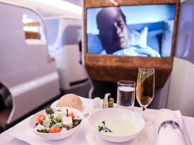 Emirates business class menu