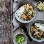 Kylling med ingefær, østerssauce og kinesiske svampe