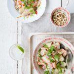 Thailandsk pomelosalat med rejer