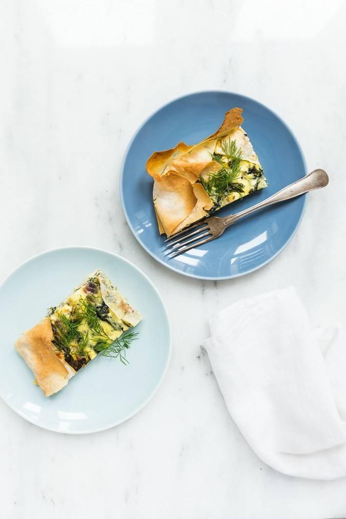 Græsk spinattærte