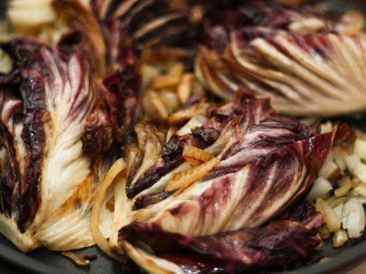 Andebryst med græskar, braiseret radicchio og portvinssauce