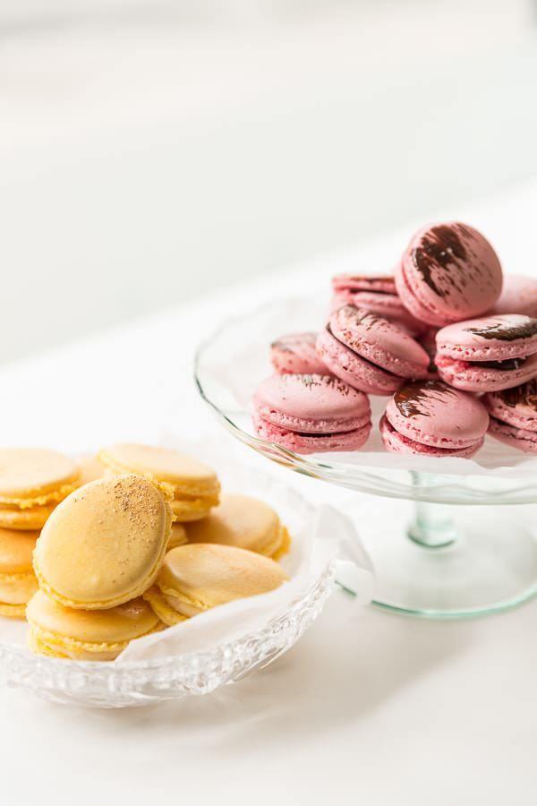 Macarons med chokolade