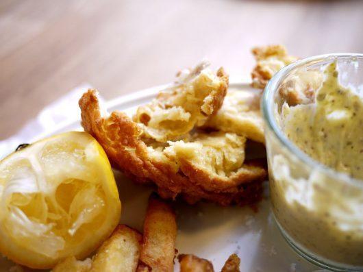 Skuffende fish & chips på OliNico