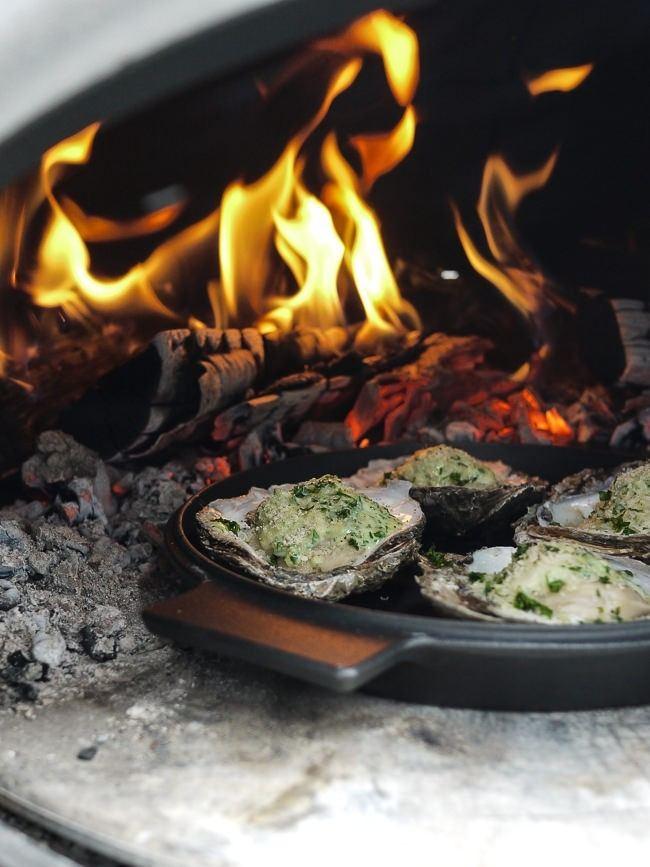 Gratinerede østers