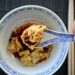 Spicy sichuan wontons i chiliolie