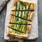 Tærte med grønne asparges og gruyere