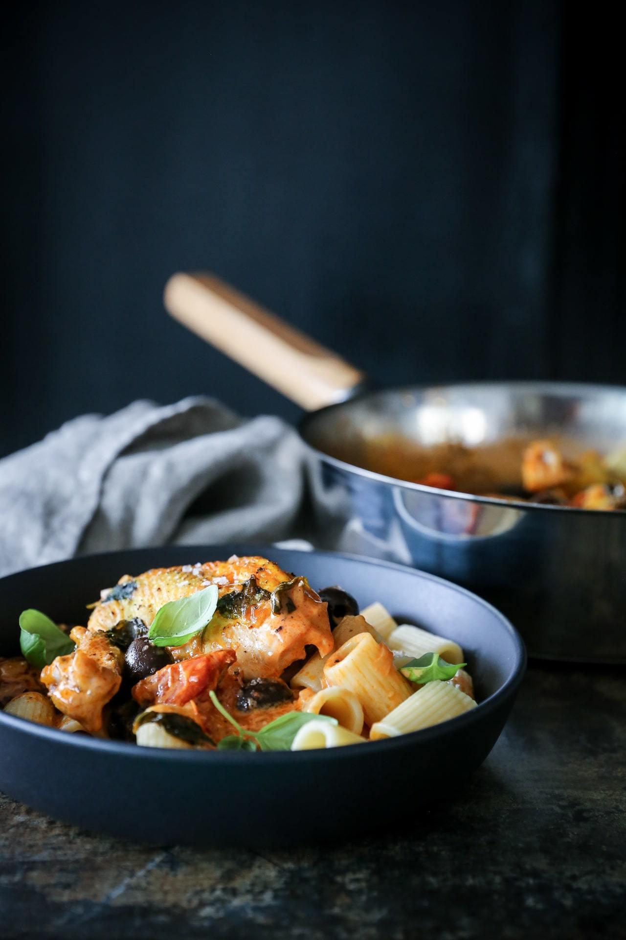 kyllingebryst med pasta