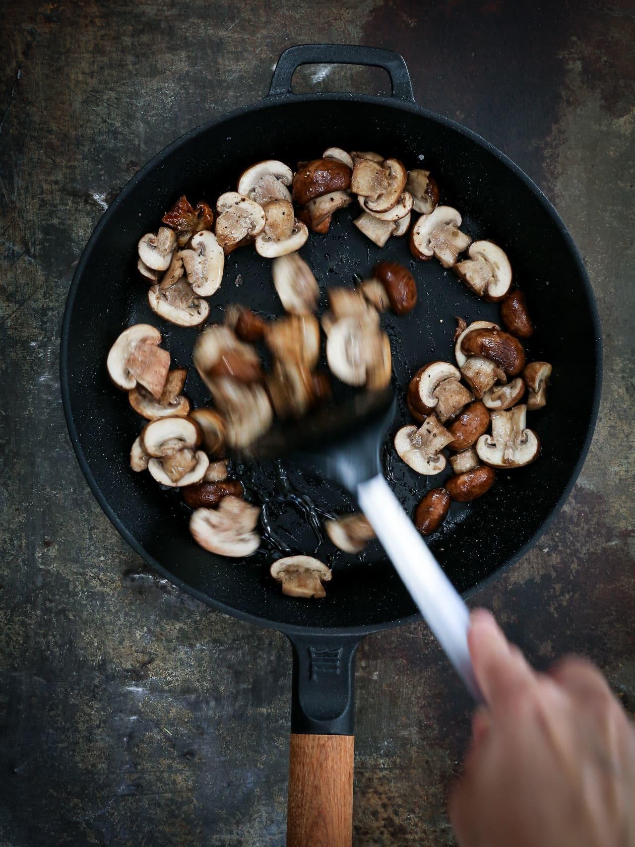 stegte svampe