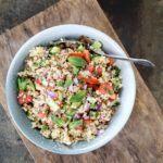 Tabouleh - nem opskrift på bulgursalat med urter, rødløg og grønt